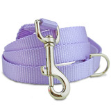 Lavender Nylon Dog Leash, solid purple dog leash, 4', 5', 6'