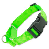 Lime Green Martingale with Quick release buckle, black plastic buckle and adjuster
