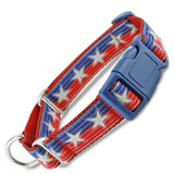Patriotic Buckle Martingale Collar, Quick Snap
