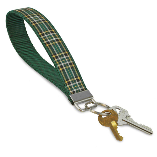 Plaid Keyring, Irish National Tartan, Keychain wristlet