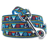 Nautical Dog Leash, Anchors & Ship wheels