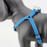 Plaid Dog Step-In Harness, Blue Douglas Tartan, Choke-Free, Adjustable, nylon
