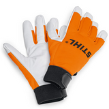 Stihl Advance Winter Work Gloves ( medium ) - 0000 883 8509  Windproof, waterproof, breathable glove for active users. STIHL ADVANCE Winter gloves are made from goat skin leather constructed in an ergonomical curved design for better grip and high work comfort.