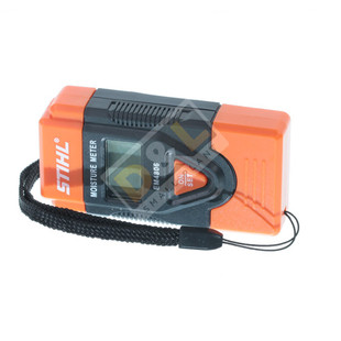 Stihl Wood moisture gauge - 0464 802 0010 Wood: 6 - 42%  Other Material: 0.2% - 2.0%  Temperature: 0 - 40°C or 32 - 99°F  Dimensions: 80mm x 40mm x 20mm  The meter comes complete with batteries..