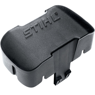 For covering the battery slot on any STIHL cordless machine. Protects against dust and dirt during long storage periods.