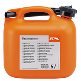 Stihl 5 Litre Petrol canister Orange - 0000 881 0230 5 litre capacity, available in transparent and orange. UN approved.