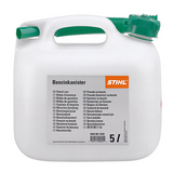Stihl 5 Litre Petrol canister Transparent - 0000 881 0232 5 litre capacity, available in transparent and orange. UN approved.