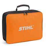 Soft bag for safe transport and storage of up to 2 x STIHL Li-ion batteries and 1 x STIHL charger.