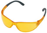 Stihl CONTRAST safety glasses - Yellow - 0000 884 0327  EN 166, material with 100 % UV protection, side protection, padded earpieces, non-misting interior, scratch-resistant exterior.  Very high contrast enhancement.