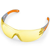 Stihl LIGHT PLUS safety glasses - Yellow - 0000 884 0357  Very high contrast enhancement