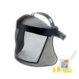 Stihl Short face/ear protection & nylon mesh - 0000 884 0511  Face protection with nylon mesh, double headband and 4 ear plugs in box EN 352, EN 1731, SNR 33 (H : 32; M : 29; L : 29) (up to 113 dB(A))