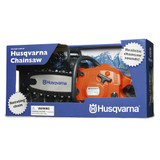 Husqvarna Toy Chainsaw - 522 77 11 01  Battery operated toy chainsaw toy chainsaw with chainsaw sound and rotating chain.  Batteries included.  Age 3+years