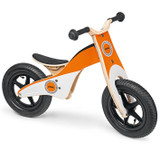 Stihl Children's Balance Bike  - 0464 944 0000  For children 3 – 6 years of age. Made of birch plywood, seat height adjustable between 32 cm – 38 cm, maximum weight 30 kg.