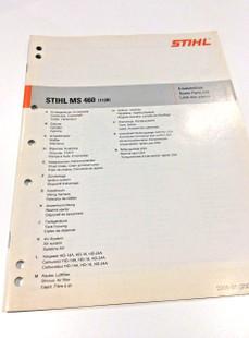 Workshop Spare Parts List for Stihl MS 460 - 0452 176 1323