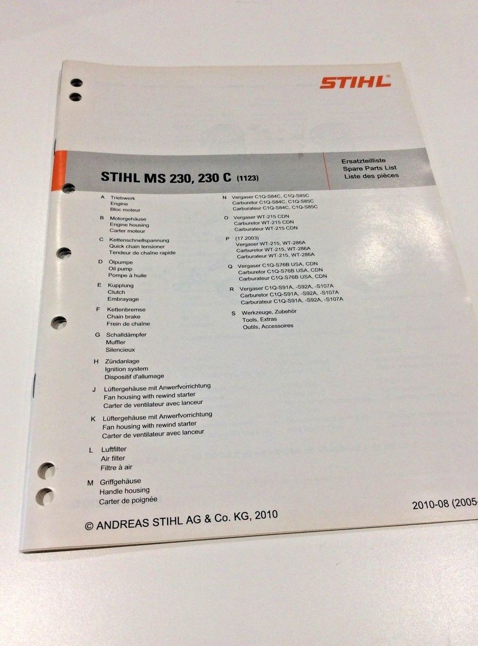 workshop spare parts list for stihl ms 230 ms 230 c 0452 531 1323 Stihl MS 391 Parts Diagram workshop spare parts list for stihl ms 230 ms 230 c 0452 531 1323