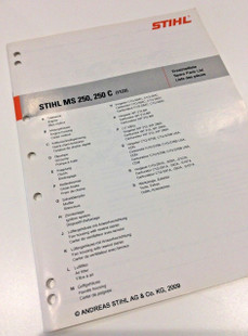 workshop spare parts list for stihl ms 250 ms 250 c 0452 532 1323 Stihl FS 36 Parts Diagram workshop spare parts list for stihl ms 250 ms 250 c 0452 532 1323