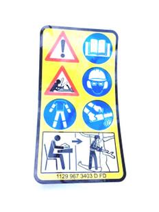 Instruction Label for Stihl MS 201T - MS 201TC - 1129 967 3403