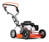 "HUSQVARNA LB548SE 19""/48cm Petrol Self Propelled Lawnmower with Ergonomic Handle   Motor/engine manufacturer: Honda Engine type: OHC Engine name: GCV 160 Cylinder displacement: 160 cm³ Fuel tank volume (with reserve): 0.93 l Net power at preset rpm Energy: 2.8 kW Net power at preset rpm: 2900 rpm Engine lubrication type: Splash Cutting methods: BioClip® Cutting width: 48 cm Cutting height max: 60 mm Cutting height min: 30 mm Drive system: Self-propelled, single speed Weight: 32.5 kg Sound pressure level at operators ear: 77 dB(A) Sound power level, measured: 90 dB(A) Sound power level, guaranteed (LWA): 92 dB(A) Vibrations handlebar: 4.8 m/s²"