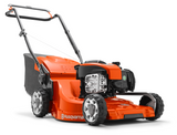 "HUSQVARNA LC 247SP 18.5""/47cm Petrol Self Propelled Lawnmower (967 34 54-01)  Motor/engine manufacturer  = Briggs & Stratton  Drive system = Self-propelled  Cutting methods = Collection/BioClip®/Rear discharge  Cutting width = 47 cm"
