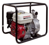 "HONDA WH20 Petrol 2"" High Pressure Water Pump The Honda WH20 2"" high pressure portable pump is compact in size but capable of generating impressive pressure up to 5 bars and able to transport high quantities of water for long distances. Fitted with a frame and rubber mount to reduce mechanical stress absorbing vibration. Debris up to 3mm, and a total head of 50m. OHV 4-stroke engine Cast iron volute and impellor. Anti-vibration system. Max output 27m3/h. Pressure 5.0 bar. Weight 27kg"