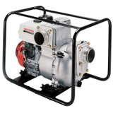 "HONDA WT40 Petrol 4"" Trash Water Pump - HPWT40  Honda WT40 Trash Pump powered by Honda GX390 Engine is ideal for messy jobs and dirty water. It has been developed to handle high volumes of water filled with solids. 2.5 Bar max pressure 25m max head. 1600 Lpm max flow. Suction up to 8m (after priming). Aluminium body, BUNA seals. Carry frame with anti-vibration rubbers 4"" pump ports. Handles suspended solids up to 31mm. Cast iron volute & impeller. Silicon carbide mechanical seal."