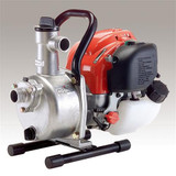 "KOSHIN SEH25L Petrol 1"" Centrifugal Water Pump - CESEH25L  Discharge Size: 1"" NPT Total Head: 106 Ft. Delivery Volume: 30 Gpm Pressure: 45.9 Psi Engine: Honda GX25 Maximum Suction: 26 Ft. Displacement: 25cc Horse Power: 1 Hp Fuel Capacity: .15 Gal Continuous Run Time: 1.2 Hours Starting: Recoil Dimensions LxWxH: 15""x10""x13"" Net Weight: 16 Lbs."
