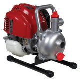 """TSURUMI Petrol 1"""" Centrifugal Pump With Buna Seals - CEOBTEM25H  Model TEM-25H Inlet (mm) 25 Outlet (mm) 25 Engine GX25 Fuel Petrol HP 1.5 Oil Alert No Flow 140 Head (mtrs) 40 Solids (mm) 5 Widith 215 Length 340 Height 270 Dry Weight 5 Packing Weight 7Kgs"""