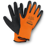 Stihl FUNCTION ThermoGrip Work Gloves (Small - 8) - 0088 611 0308  Winter work gloves without cut protection. Thick insulation, strong latex palm coating and good grip make ThermoGrip FUNCTION gloves well situated for heavy work in cold, wet and snowy conditions. Material: PES knit with heavy-duty latex palm coating.