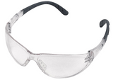 Stihl CONTRAST safety glasses - Clear - 0000 884 0332  EN 166, material with 100 % UV protection, side protection, padded earpieces, non-misting interior, scratch-resistant exterior.  Ideal in low-light situations.