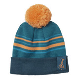"""Stihl Kid's chainsaw beanie """"SAW"""" - 0420 440 0000  For cooler weather, this is the perfect beanie for young adventurers. With blue and orange stripes, a dark blue band and a great orange bobble, this 100% acrylic hat is sure to keep their ears warm.     Technical dataValue Material100% polyacrylic ColourBlue & orange SizeOne size"""