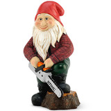 Stihl Children's Garden gnome - 0464 371 0010  This garden gnome holding a STIHL chainsaw belongs in every STIHL fan's garden! The gnome, which is approximately 20 cm in height and comes with work trousers, braces, the obligatory pointed cap and many other lovingly worked details, would be a fun ornament for any flowerbed. Weight 500g