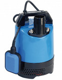 "The LB 480 submersible pumps are extremely robust, compact contractor pumps, that have a 50mm / 2"" outlet and a tough pressed steel strainer base and body.  They offer excellent durability during periods of continuous use and/or operator abuse.   The LB480 incorporates a dual position outlet port, to enable the user to position the outlet hose horizontally or vertically and avoid it kinking. A choice of either 0.48kW or 0.75kW motors in the range facilitate cost effective pump selection. A combination of a rubber pump chamber and a urethane vortex impeller provides excellent wear resistance in site water applications that contain sand and silt in suspension, thus maintaining performance and reliability.  A 403 stainless steel shaft that is fitted with an ultra hardwearing, silicon carbide, double mechanical seal, (in an oil chamber), with an oil lifter to maintain seal lubrication during operation in any position. This feature, combined with the water and air cooling route to the top outlet, allows the pump to operate for extended periods with little or no water. Considered the 'hire industry standard'. Supplied with 10 metres of heavy duty, H07RN-F rubber power cable."