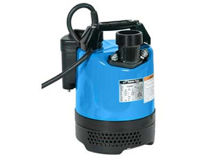 """The LB 480 submersible pumps are extremely robust, compact contractor pumps, that have a 50mm / 2"""" outlet and a tough pressed steel strainer base and body.  They offer excellent durability during periods of continuous use and/or operator abuse.   The LB480 incorporates a dual position outlet port, to enable the user to position the outlet hose horizontally or vertically and avoid it kinking. A choice of either 0.48kW or 0.75kW motors in the range facilitate cost effective pump selection. A combination of a rubber pump chamber and a urethane vortex impeller provides excellent wear resistance in site water applications that contain sand and silt in suspension, thus maintaining performance and reliability.  A 403 stainless steel shaft that is fitted with an ultra hardwearing, silicon carbide, double mechanical seal, (in an oil chamber), with an oil lifter to maintain seal lubrication during operation in any position. This feature, combined with the water and air cooling route to the top outlet, allows the pump to operate for extended periods with little or no water. Considered the 'hire industry standard'. Supplied with 10 metres of heavy duty, H07RN-F rubber power cable."""