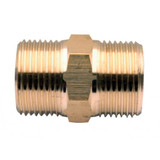 Taskman Nipple - JPPW10B015  Pressure Washer Nipple  22mm x 22mm threaded coupling designed for piecing together 10, 20 or 30 meter lengths of hose to make effectively a longer hose. This is the standard brass coupling/nipple. There is also a deluxe model available to purchase.