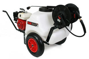 Honda GX160 125 Litre Mini Bowser 2250psi 150 Bar Petrol Pressure Washer Interpump