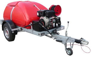 Taskman BW170 PH15 2250 PSI 170 Bar Trailer Mounted Petrol Pressure Washer