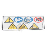 Warning Pictogram Decal Sticker for Stihl TS410 - 0000 967 3799
