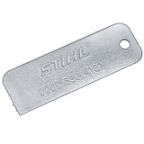 Stihl Sprocket Wear Check Gauge - 0000 893 4101  For determining the degree of wear on the chain sprockets.