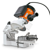 Stihl USG Universal Filing Tool -  5203 200 0008   Universal filing tool for sharpening all STIHL saw chains, circular saw blades for STIHL clearing saws and STIHL hedge trimmer blades.  Complete with swivel head for all STIHL Oilomatic saw chains and two shaped grinding wheels.  Also suitable for sharpening STIHL Duro saw chains.