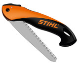 Stihl PR 16 HANDYCUT Folding Saw - 0000 881 8700  Folding Japanese 17 cm saw blade made of carbon steel, chrome-plated surface.  Robust, ergonomically designed handle.  Cuts up to 5 cm growth and weighs just 160 g.