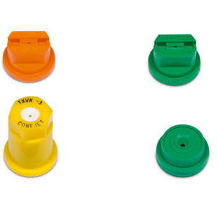 4 Piece Nozzle Set for Stihl SG 11, SG 31, SG 51, SG 71 Manual Sprayers  - 4255 007 1000  Includes two fan jet nozzles for maintaining general areas and two hollow cone nozzles for spraying individual plants.