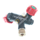 Dual Nozzle for Stihl SG 31, SG 51, SG 71 Manual Sprayers  - 4255 500 8500  Ideal for spraying large surfaces or two flower beds simultaneously, nozzle direction can be individually adjusted.