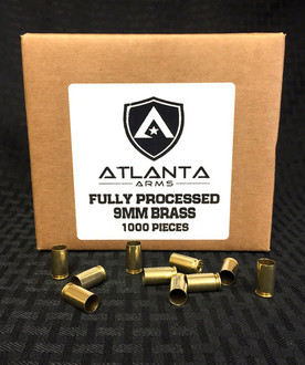 9MM FULLY PROCESSED BRASS - 1000 PIECES