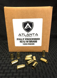 40 S&W FULLY PROCESSED BRASS - 1000 PIECES
