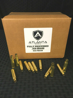 .308 FULLY PROCESSED BRASS - 500 PIECES