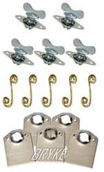 "5/16"" Quarter Turn Winged Fastener with Springs and Plates - 5pack"