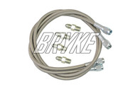 Steel Braided Go Kart Brake Line Kit