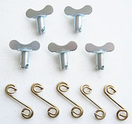 Quarter Turn Winged Oval Head with Springs- 5pack