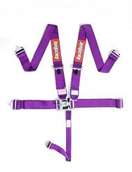 Racequip Racing Harness 5 pt. Purple Belts