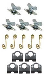 Quarter Turn Winged Fastener with Springs and Plates- 5/16""